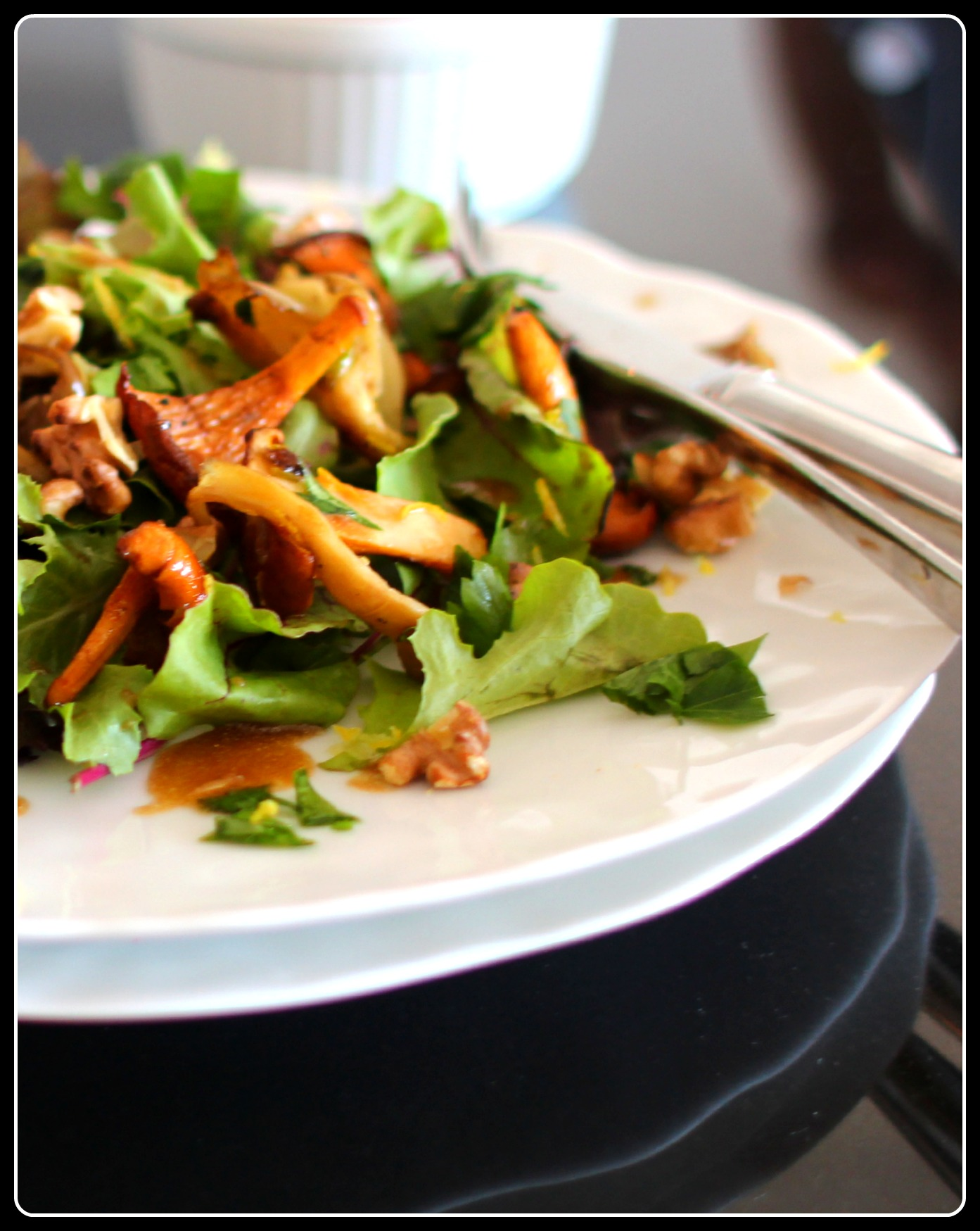 Olivier vegetarian salad with mushrooms: a recipe with photos 17