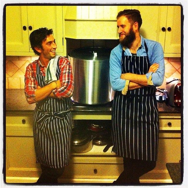 Robert Watson and Matt Gollan apronning it up (picture courtesy of SG)